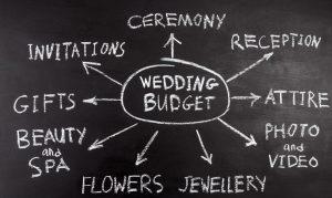 Wedding budget infographic