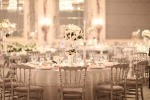 Set up of a wedding reception