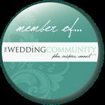 Member of wedding community badge