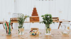 Wedding cake with children's activities