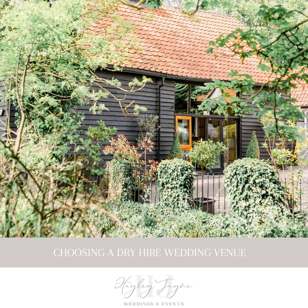 Choosing A Dry Hire Wedding Venue | Essex Wedding Planner