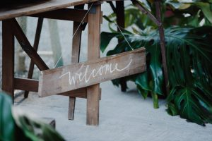 Welcome sign- signage for your wedding