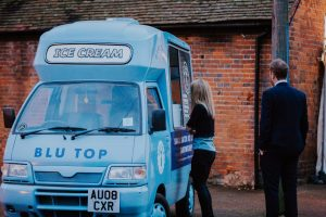 Blu Top Ice cream van at a Essex wedding