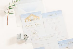 Powder blue wedding invitation suite | Essex Wedding Planner