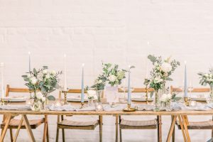 Blue & Gold top table styling | Essex Wedding Planner