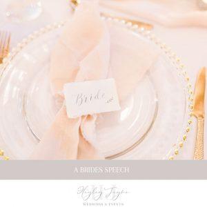 A Brides Speech | Essex Wedding Planner