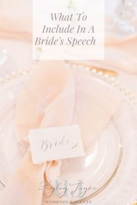 What To Include In A Bride's Speech | Essex Wedding Planner