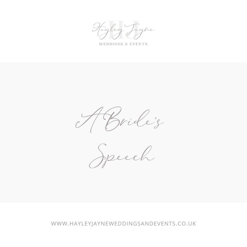 A brides speech graphic
