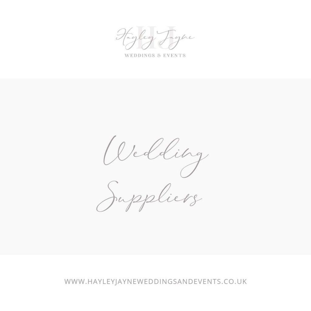 Wedding suppliers graphic