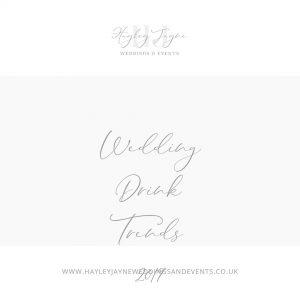 Wedding drink trends graphic
