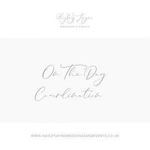 Wedding day co-ordination from Essex wedding planner