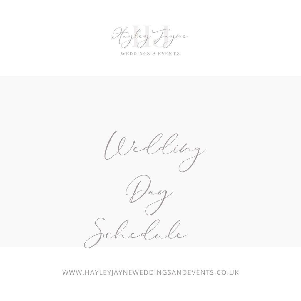 How to create a wedding day schedule from Essex wedding planner