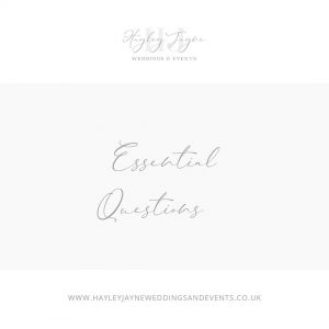 Questions to ask your wedding venue from Essex wedding planner