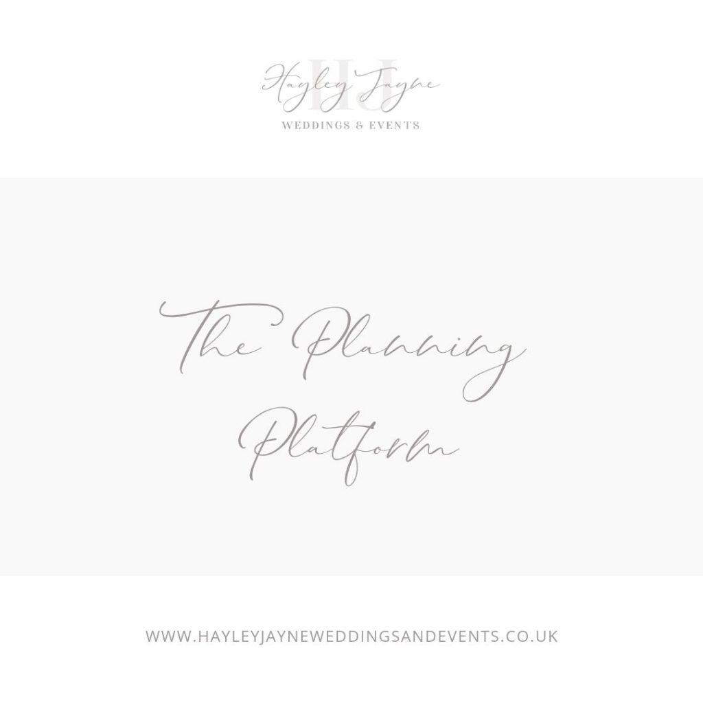 Wedding planning platform graphic