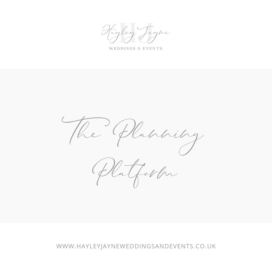 The Planning Platform a wedding planning service from Essex wedding planner