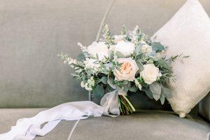 Wedding Bouquet with silk ribbon