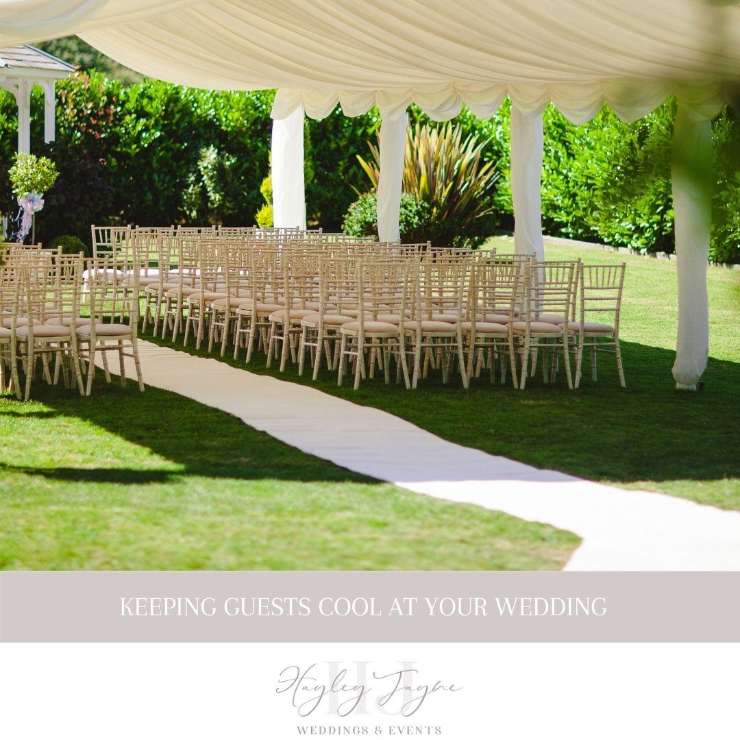 Keeping Wedding Guests Cool | Essex Wedding Planner