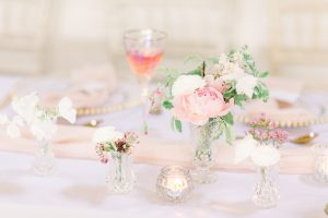 Pink and gold wedding table styling | Essex Wedding Planner