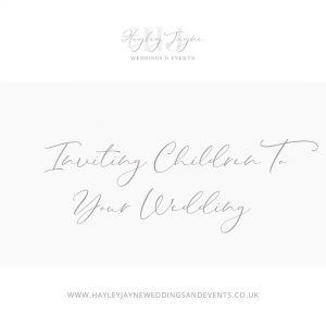 Inviting children to your wedding
