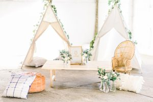 Children's tepee at wedding
