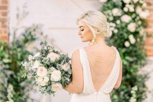 Bride standing at aisle on wedding day | Essex Wedding Planner