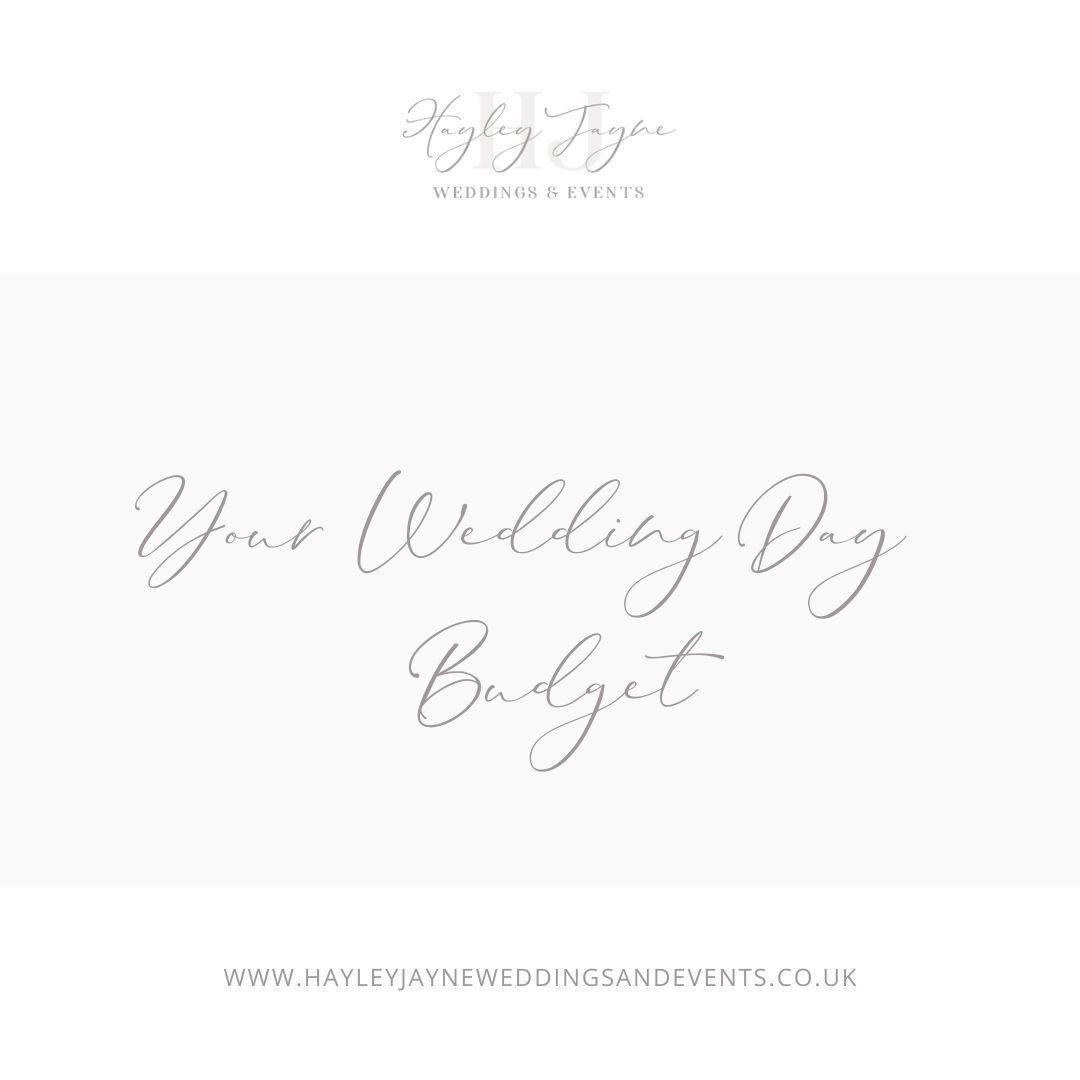 Your Wedding Day Budget | Essex Wedding Planner