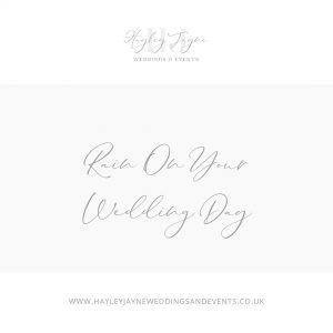 Rain on your wedding day   Essex Wedding Planner