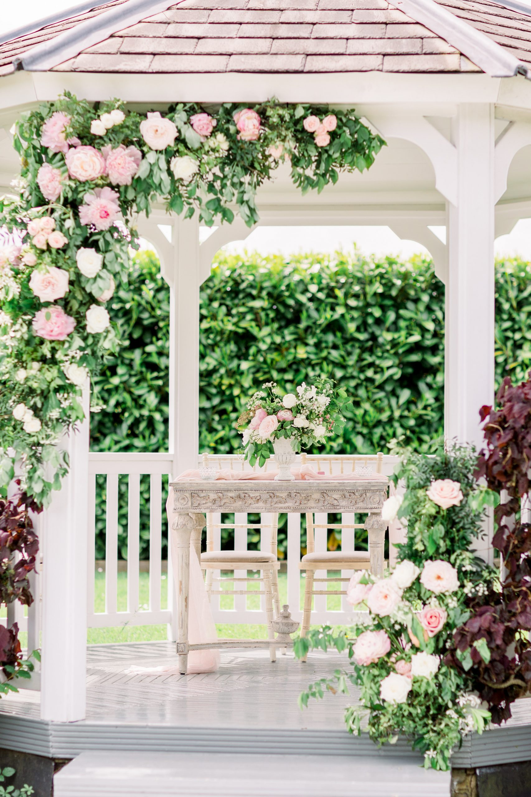 Outdoor wedding ceremony set up | Essex Wedding Planner
