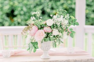 Floral table centrepiece for ceremony | Essex Wedding Planner