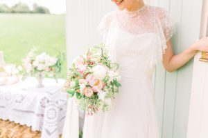 Bride with wedding bouquet | Essex Wedding Planner