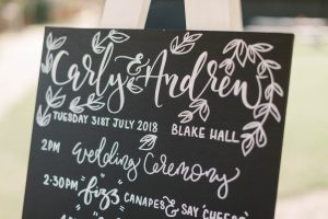 Order of the Day | Wedding Signage | Essex Wedding Planner