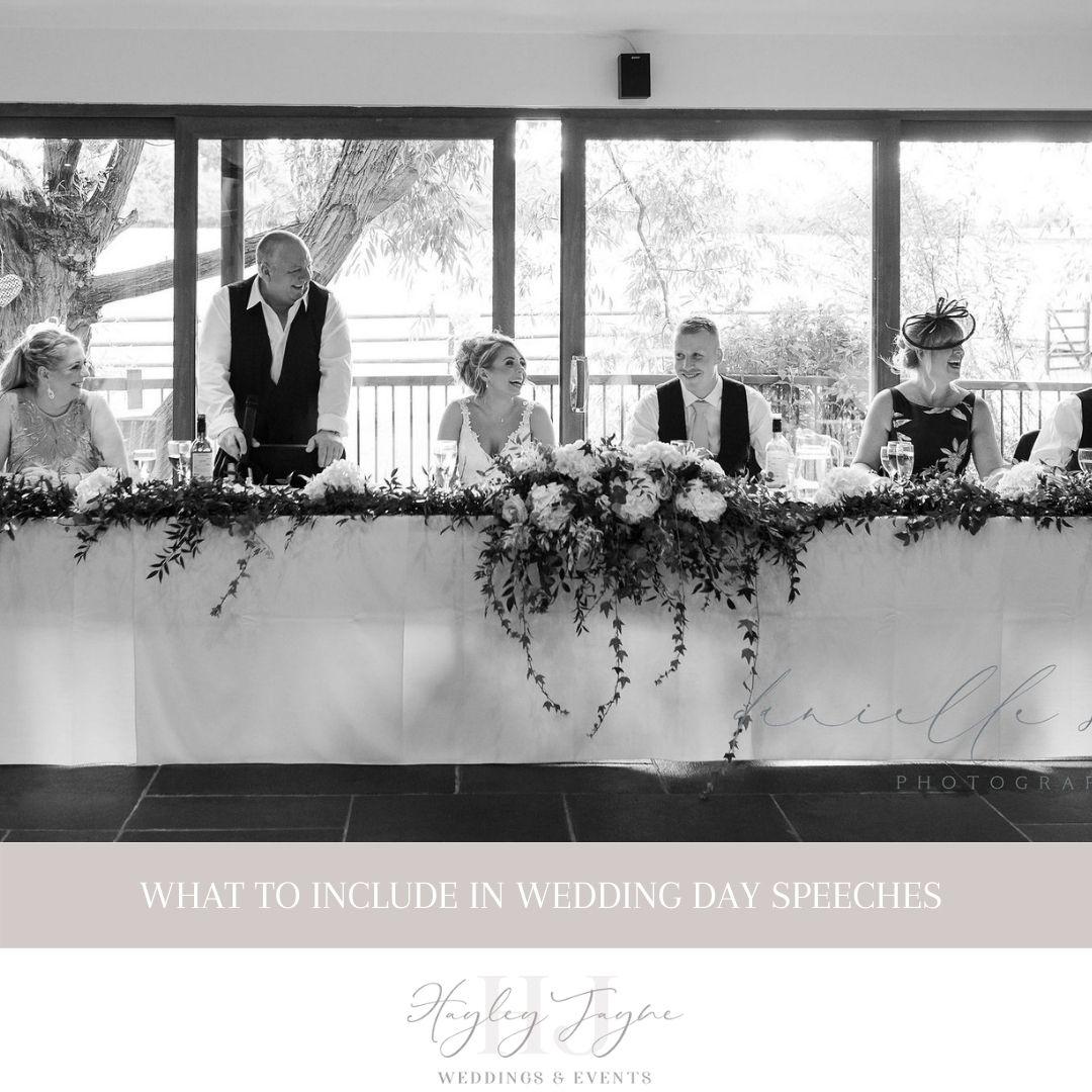 Wedding Day Speeches | Essex Wedding Planner