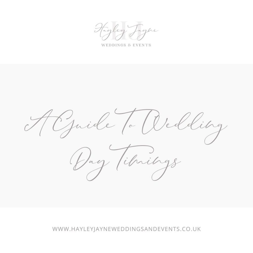 A Guide to Wedding Day Timings | Essex Wedding Planner