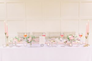 Blush Pink and Gold Wedding Table Set Up | Essex Wedding Planner