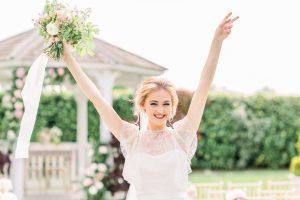 A bride celebrating her wedding day | Essex Wedding Planner