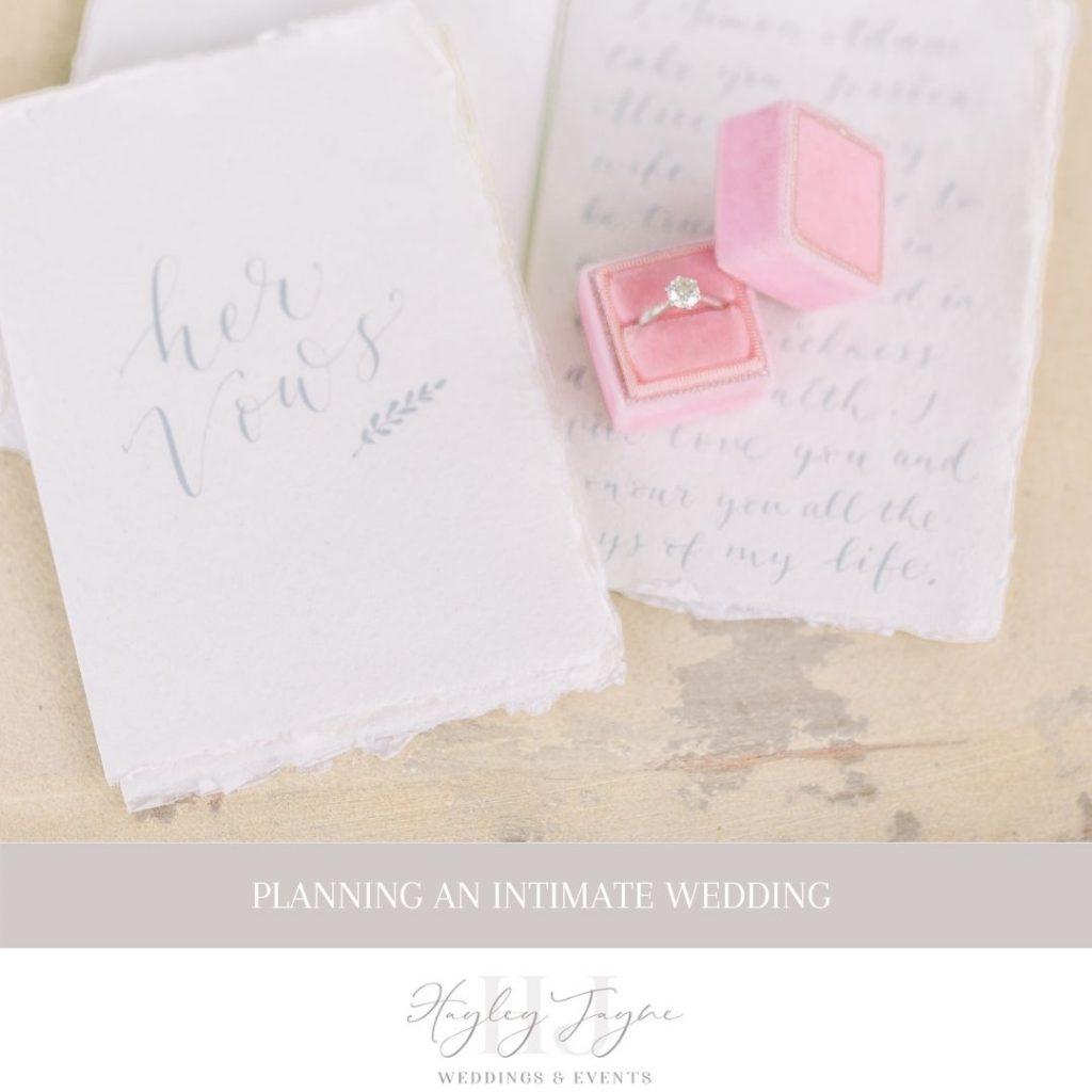 Planning An Intimate Wedding | Essex Wedding Planner