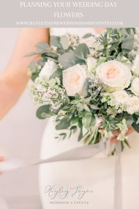 Bridal bouquet with big fluffy roses | Essex Wedding planner
