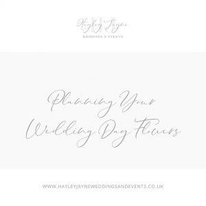 Wedding Day Flowers | Essex Wedding Planner