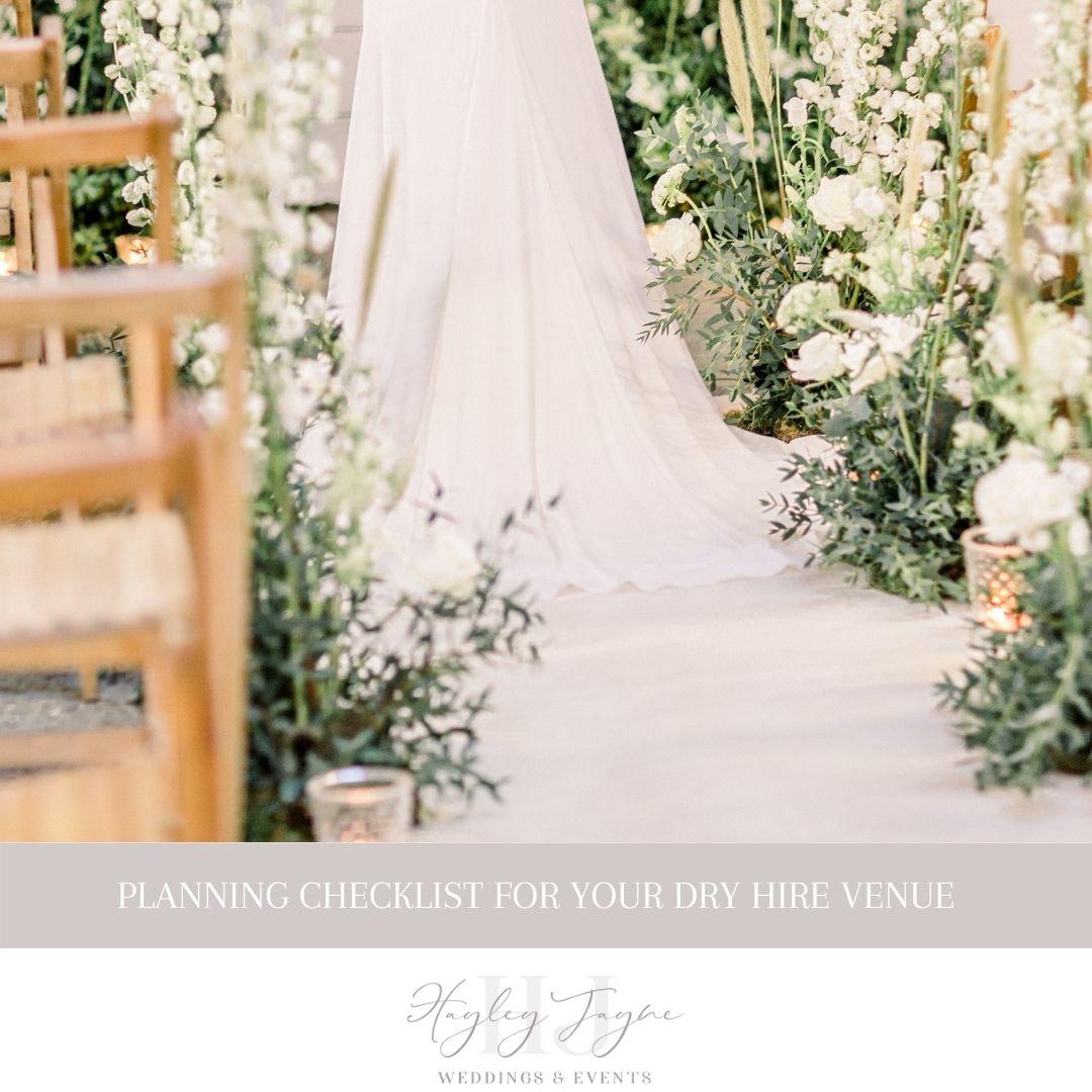 Planning checklist for your dry hire venue | Essex Wedding planner
