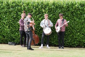 Band setting up on a wedding day | Essex wedding planner