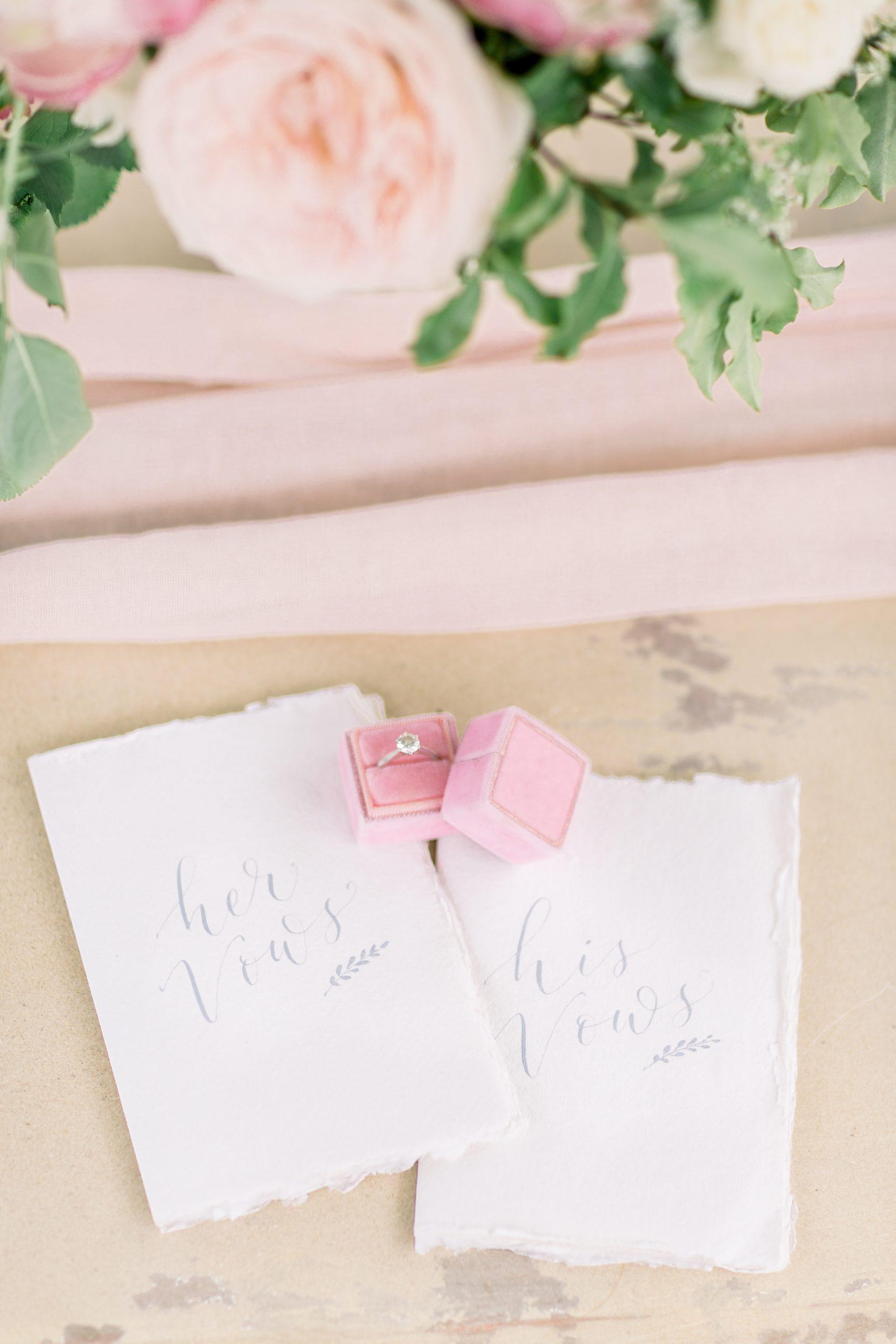 His & Her's Wedding Vow Book | Essex Wedding Planner