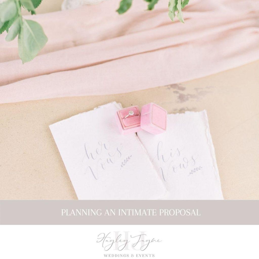 Planning An Intimate Proposal | Essex Wedding Planner