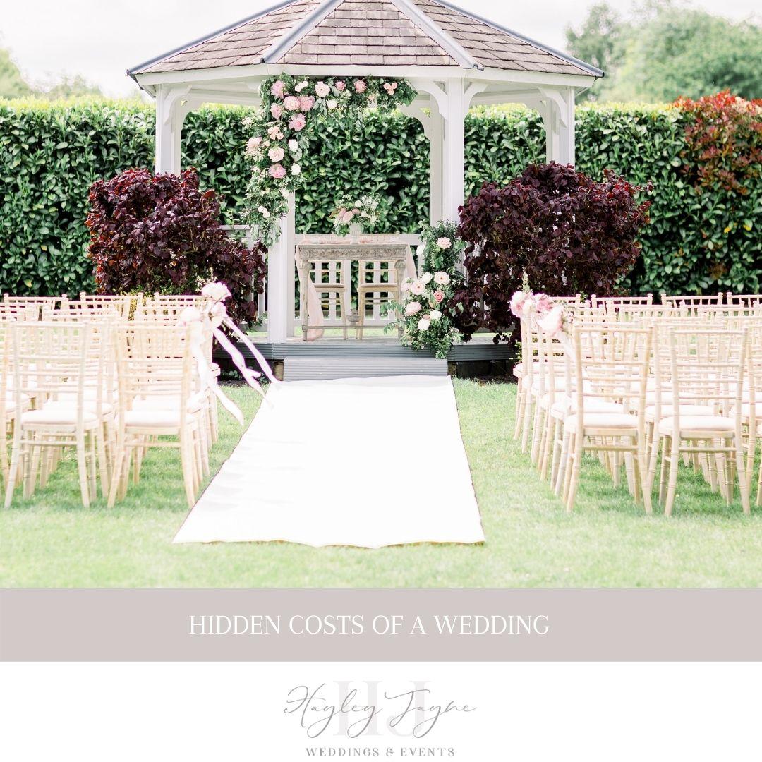 Hidden Costs Of A Wedding | Essex Wedding Planner