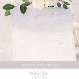 Organising Your Table Plan | Essex Wedding Planner