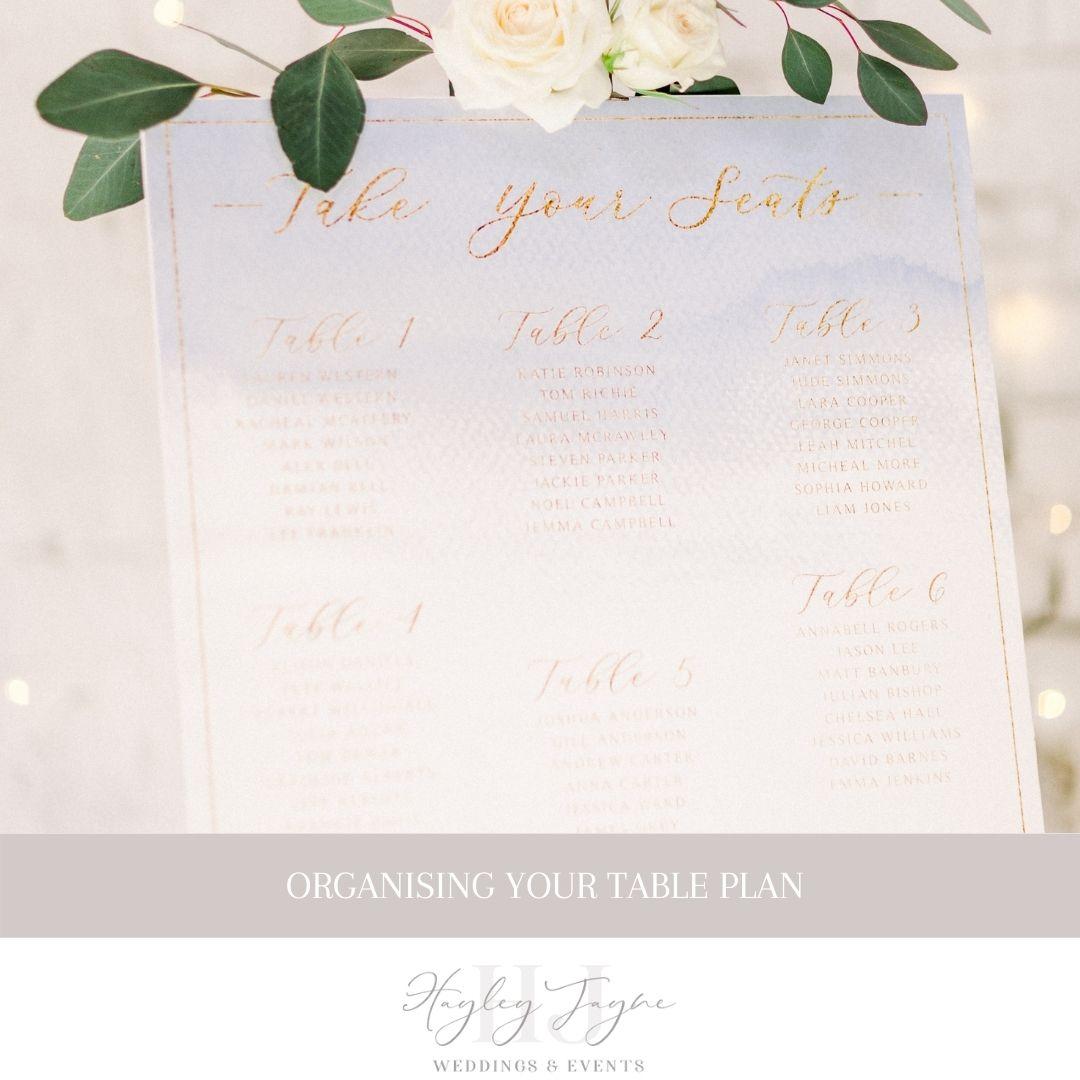 Organising Your Table Plan | Essex Wedding Planner