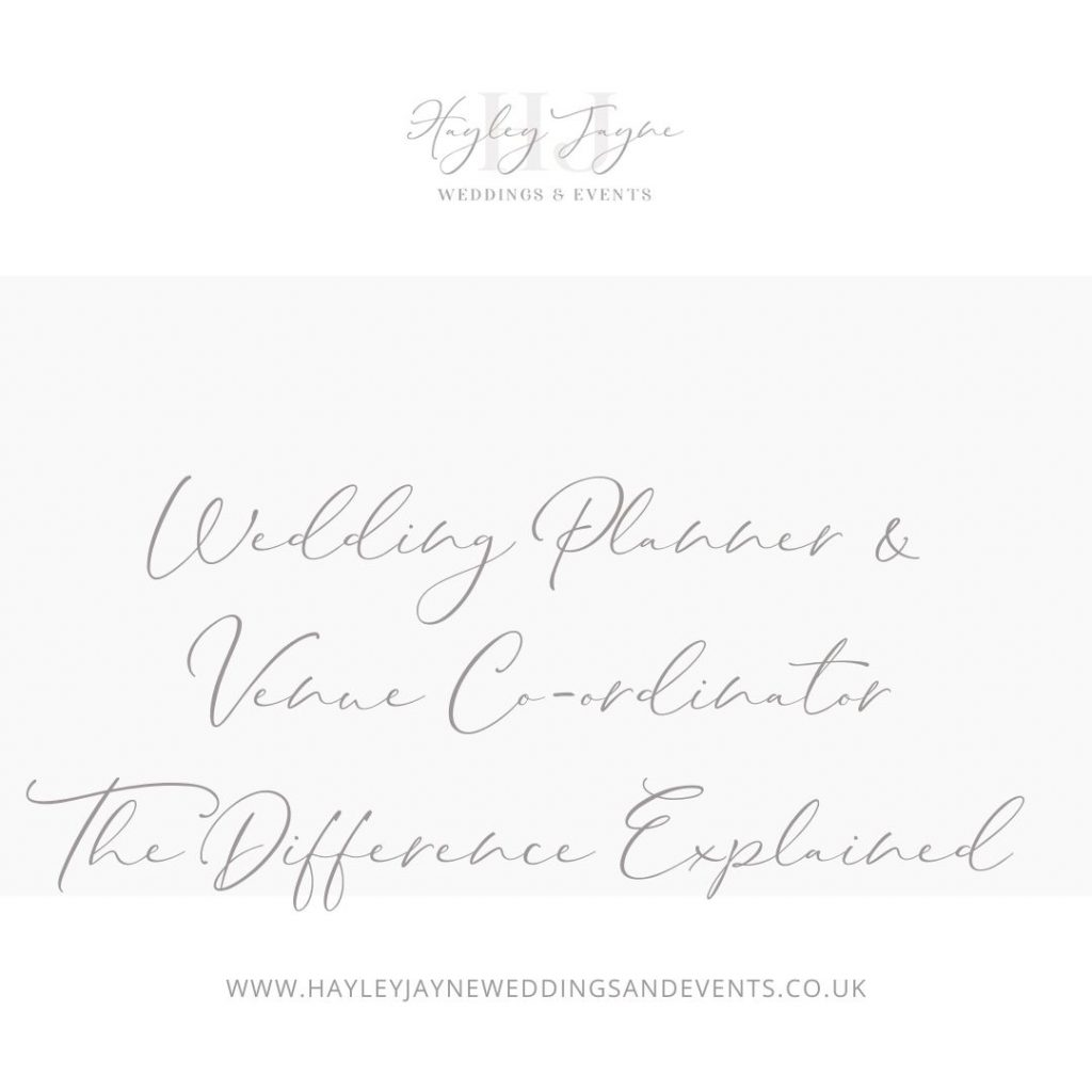 Wedding Planner v Venue Co-ordinator sign | Essex Wedding planner