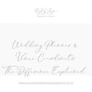 Wedding Planner v Venue Co-ordinator sign | Essex Wedding planner