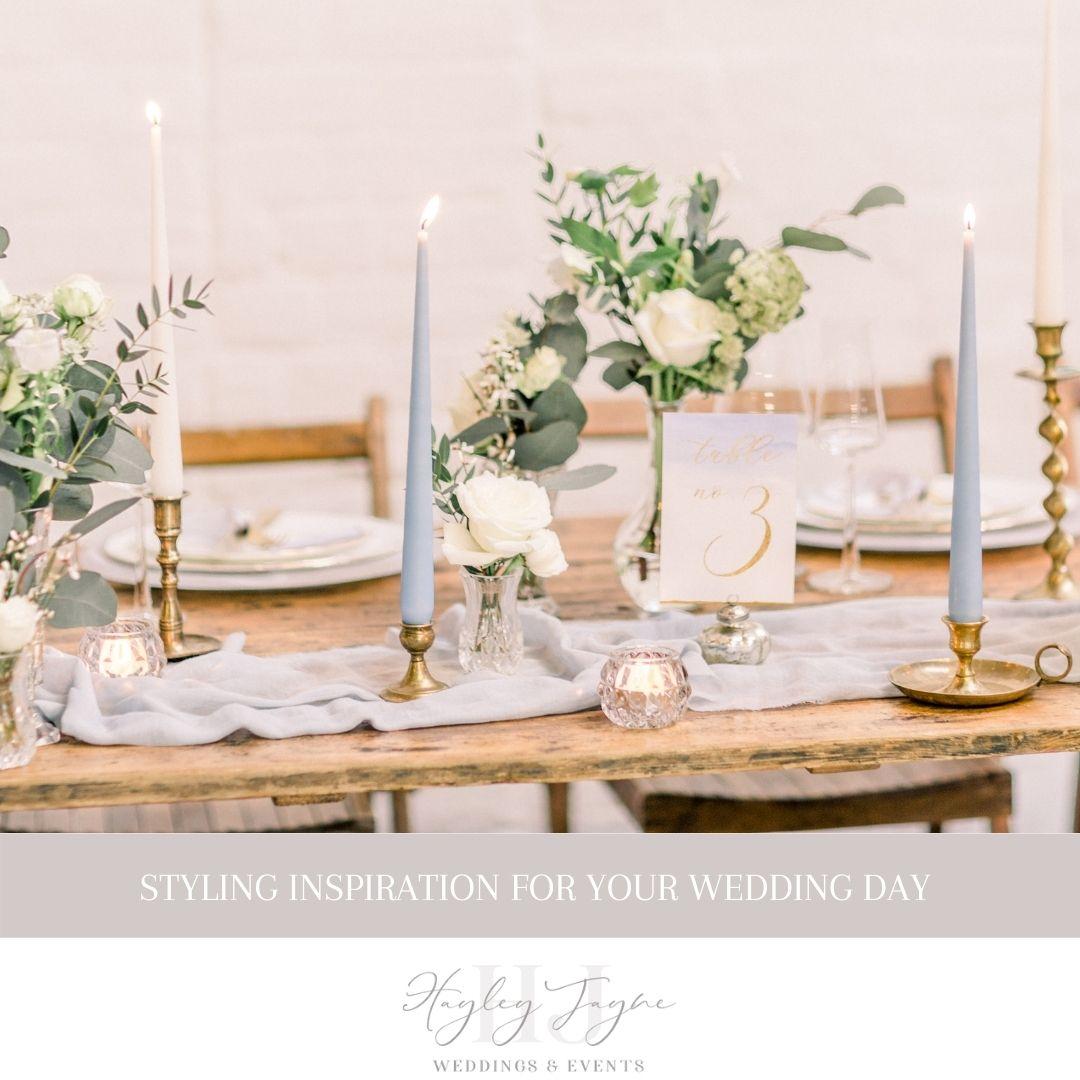 Styling your wedding day | Essex Wedding planner