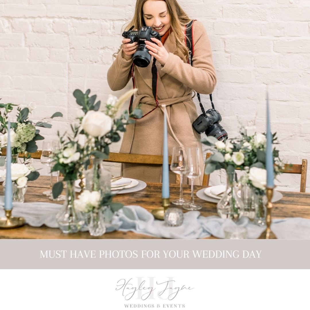 Must Have Photos For Your Wedding Day | Essex Wedding Planner
